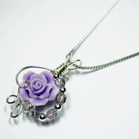Purple Rose Perfume Pendant by Create-A-Pendant