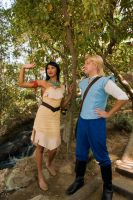 Pocahontas and John Smith Cosplay Disneyland by Chingrish