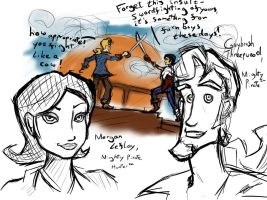 Monkey Island - sketches by Solardeus