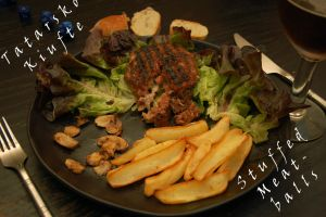 Tatarsko Kiufte / Stuffed Meatballs Recipe by WhatsToEast