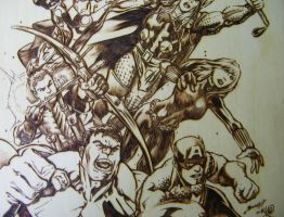The Avengers MIDDLE DETAIL by JayRandall