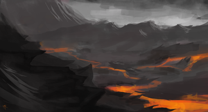 Volcano Valley, Speed Paint by MauricioRomano