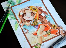 Chibi Pool Party Leona by Lighane