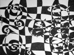 Wavy Chess with Fishes by Jose-Garel-Alvoeiro
