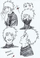 sketch - hatake kakashi by GaGat