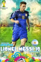 Lionel Messi Argentina World Cup 2014 by jafarjeef