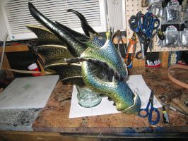 Dragon Helmet Progress by Azmal