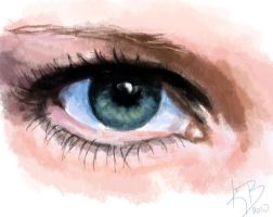 Eye - Speed paint by KerovinBlack