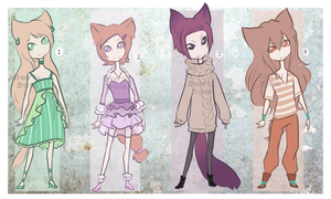 [REDUCED PRICE] Random kemonomimi adoptables by DeerlyDame