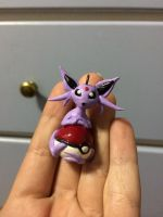 Espeon On Her Pokeball by LittleRed132