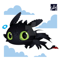 Toothless Sticker by Aniteen9