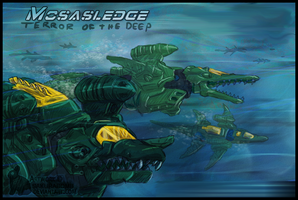 ZOIDS - Mosasledge Navy by SakuraBomb