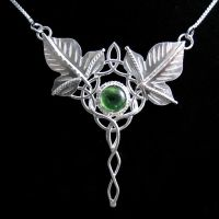 Celtic Ivy Leaf Pendant by camias