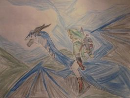 Link on his dragon by thelinkleonxkennedy2