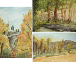 Montana Watercolor Experiments by eklipse13