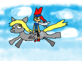 Derpy and Gingka - Let's Ride. by Whirlwind-Tigress