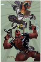 Deadpool Vs. Shatterstar by NormanWong