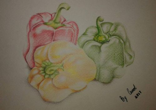 Peppers on paper! by caytindo