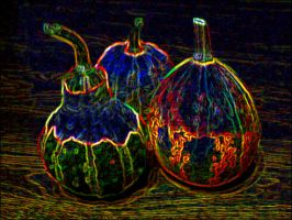 psychedelic pumpkins by spryte-21