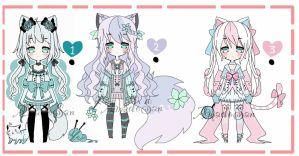 Nekomimi adoptable bacth closed by AS-Adoptables