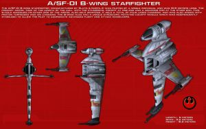 A/SF-01 B-wing starfighter ortho [Update] by unusualsuspex