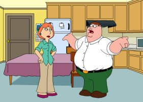 Peter and Lois Griffin by FantasyFlixArt