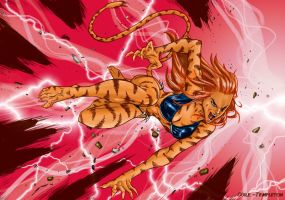 Crouching Tigra - Josh Colors by SpiderGuile