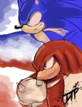 Rad Red and Blue Blur Sketch by Decision-To-Protect