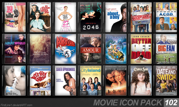 Movie Icon Pack 102 by FirstLine1