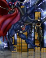 Spawn and Batman Vs Venom by Jazon19