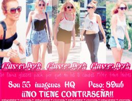 Glasses Pack Candids de Miley Cyrus by AreliCyrusBieber