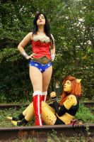 Wonder Woman and Cheetah by BevanMaria