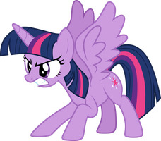 Angry Twilight Sparkle by SilverMapWolf