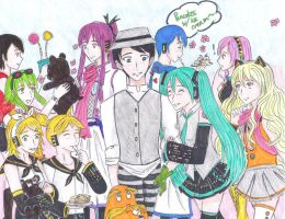 Once-ler and his Vocaloid friends by uber-neko