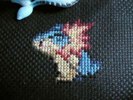 Cross stitch Typhlosion by Miloceane