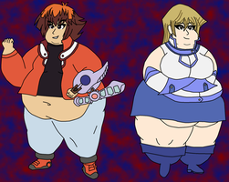Fat Jaden and Fat Alexis-COLOR by TuffTony