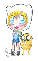 Chibi Finn and Jake by LiloLilosa