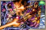 Ironman vs Sentinels commission by gammaknight