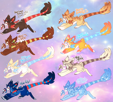 (CLOSED!) Eight Kysvee! Mystery Theme Adopts! by Will-O-Wisps