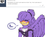 Ask Life of a Scourge - Ponytailed Birb by LoaS-ScourgeTH