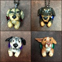 Custom Dog Pop-Out Sculptures by LeiliaClay