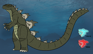 Nick's Reptilian Godzilla by DinoHunter2