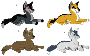 Wolf Adoptables 19: CLOSED by Manic10974
