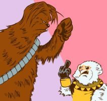Chewbacca vs alushe by Mataketa-azul