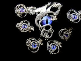 Custom - Wedding Set Dragon Eye Kilt Pin Brooches by LadyPirotessa
