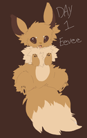 Day 1 Eevee by Shelbees