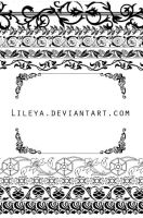 Ornamental frames - set 2 by Lileya