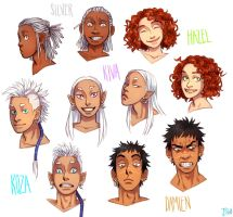 My OCs Faces by Jazzie560