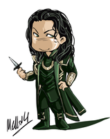 Mello's Tumblr prompt : Chibi Loki by MellorianJ