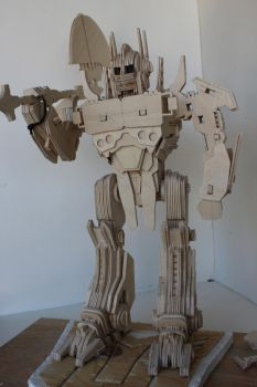 Optimus Prime with War Ax (unfinished) by RamageArt